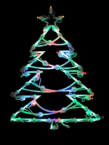 Northlight 15.5 LED Lighted Tree Double Sided Christmas Window Silhouette Decoration