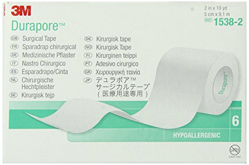 3M Durapore Tape 1538-2, 60 Rolls (Pack of 10) by 3M