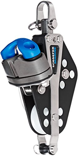 Schaefer 5 Series Fiddle Block with Becket, Cam Cleat, Aluminum Cheeks and Delrin Plain Bearing ()