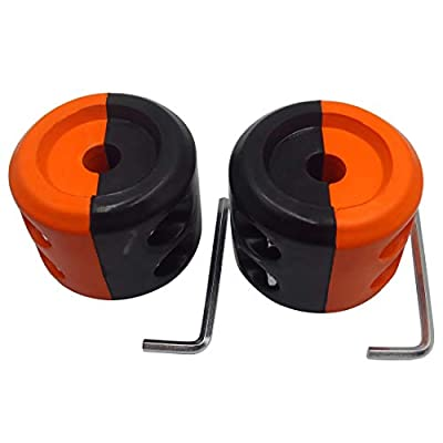 Winch Stopper ATV-SCHS Cable Hook Rubber Stopper Winch Line Saver with Allen Wrench for ATV UTV Winches(Black-Orange): Automotive