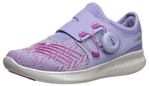 New Balance Girls' Reveal V1 Running Shoe, Clear Amethyst/Carnival, 5 M US Big Kid (Best Shoes For Gym Classes)