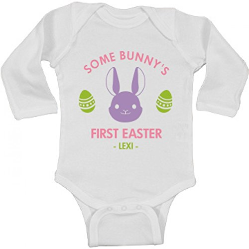 Some Bunny's First Easter Lexi: Infant Long Sleeve Bodysuit (Lexi Bunny)