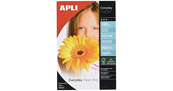 Amazon.com: PAPEL FOTO EVERY 10X15 180GR 100H: Home Audio ...