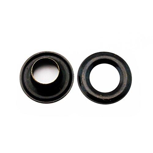 C.S. Osborne Black Grommets & Washers #B1-0 Size 0 (1/4 Hole) 144 Sets by C.S. Osborne (Image #1)