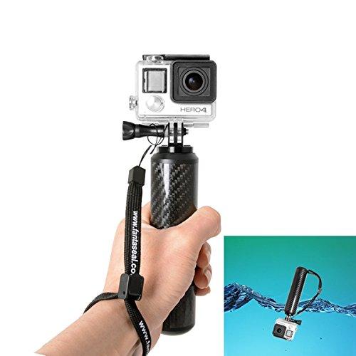 Fantaseal Carbon Fiber Camera Grip Stabilizer for GoPro Floating Bobber GoPro Selfie Surfing Grip Stabilizer for Hero4/3 Garmin Virb XE Sony SJCAM Xiaomi Yi + Nikon Canon Sony DSLR Camera/ Comcorder