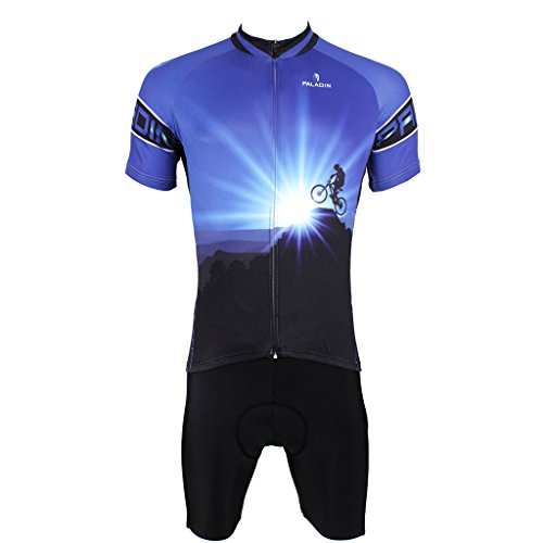 PaladinSport Men's Dawn Style Short Sleeve Cycling Jersey Set Size XL