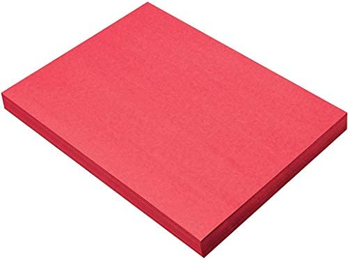 SunWorks Heavyweight Construction Paper, 9 x 12 Inches, Holiday Red, 100 Sheets
