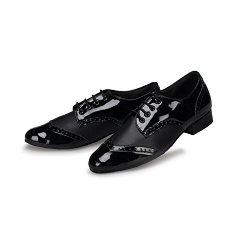 Shoes Dance Doris Leather Latin Ballroom Tango Men's Social Black M108 Salsa OTORfq