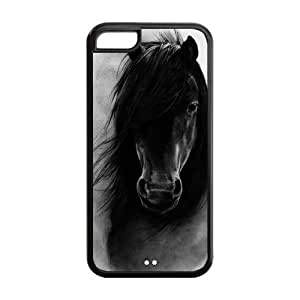 Andre-case 5s for you cell phone case covers, Horse Hard TPU Rubber Cover case cover for iPhone 5s for you cO6L0XdKIPz