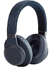 JBL LIVE 650BTNC draadloze over-ear hoofdtelefoon in blauw - Bluetooth oortelefoon met ruisonderdrukking, lange batterijduur en Alexa-integratie - onderweg muziek beluisteren en telefoneren
