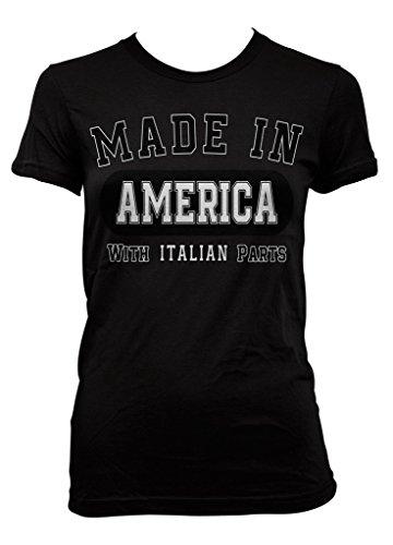 Ptshirt.com-19320-Made In America With Italian Parts Junior Ladies T-shirt-B01D8IBQD0-T Shirt Design