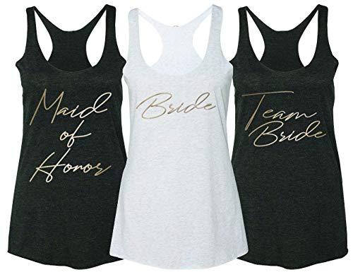 Emdem Apparel Team Bride Bridal Bachelorette Womens Racerback Tank Top TB -