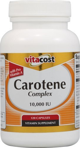 Vitacost Carotene Complex with Pro Vitamin A -- 10,000 IU - 120 Capsules by Vitacost Brand