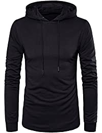 Men's Hipster Hip Hop Longline Side Zipper Hooded T-Shirt T74
