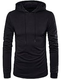 Men's Hipster Hip Hop Longline Side Zipper Hooded T-shirt T74