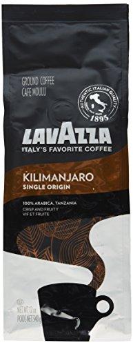 Lavazza Single Origin Kilimanjaro Ground Coffee Blend, Medium Roast, 12-Ounce Bag