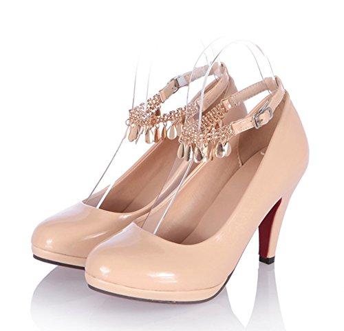 Aisun Donna Alla Moda Piuttosto Cinturino Alla Caviglia Con Cinturino Alla Caviglia, Scarpe Albicocca