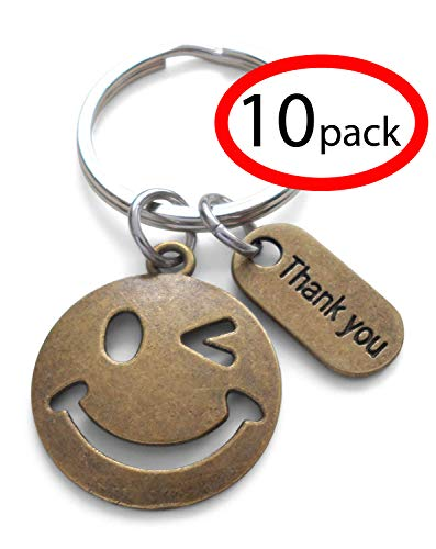 (Bronze Smiley Face Volunteer Appreciation Gift - Thank for Being a Joy to Work With (Set of 10))