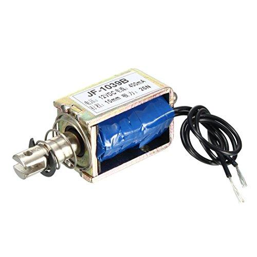 Spring Loaded Push-Pull Open Frame Solenoid Electromagnet 10mm 5kg DC 12V 400A