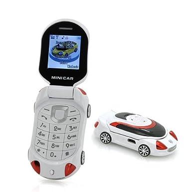 Small Sports Mini Car shape kid\'s Flip Mobile Phone Unlocked Quad ...