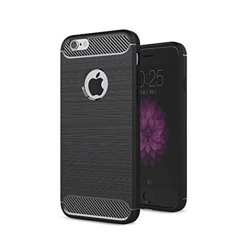 iPhone6Plus/6sPlus Case,Shockproof Design [Wire Drawing Surface] with TPU Bumper Protective Phone Cases for iPhone6Plus(5.5 Inch)-5 Colors Optional(Black)