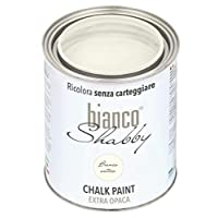 CHALK PAINT Bianco Antico per Mobili e Pareti – Pittura Shabby Chic Vintage EXTRA OPACA (1 Litro)