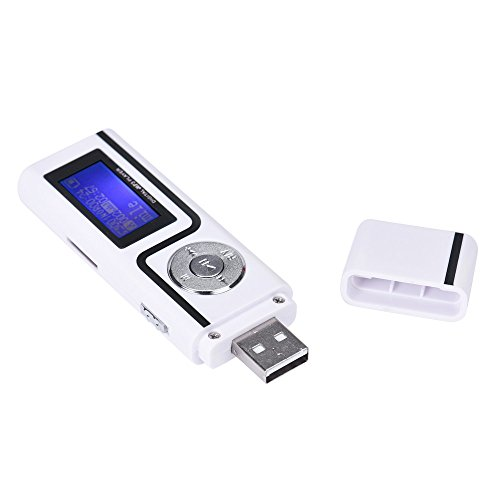 Portable USB MP3 Music Player LCD Screen Support 16GB TF Card - U Disk mp3 |Play Functions: Normal, Repeat,A-B Replay,Replay time,Replay Gap LCD HD Screen Supported Audio Formats of mp3,etc White