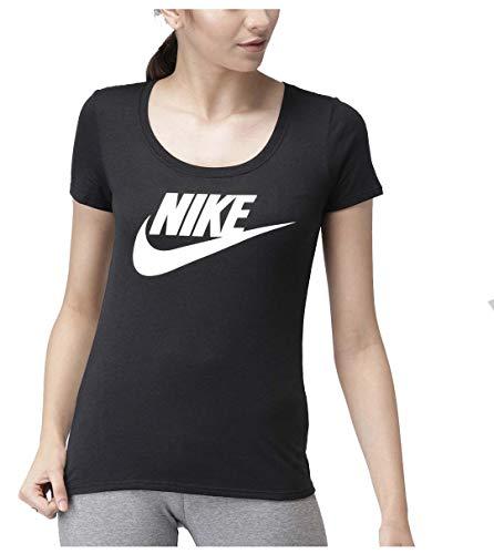 Nike Women's Basic Futura Swoosh T-Shirt (L, Black) ()