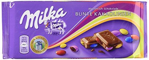 Milka Bunte Kakaolinsen 100g (Milk Chocolate w/Cocoa Lentils 3.5oz)