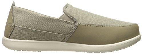 Crocs Mens Santa Cruz Deluxe Slip-on Loafer Cachi / Stucco