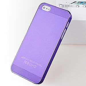 Clear Skin 0.5mm mate ultra fina cubierta de la caja dura de plástico para el iPhone 5 5s Purple