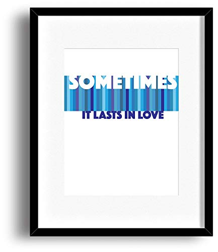 Someone Like You Lasts In Love Song Lyric Quote Print