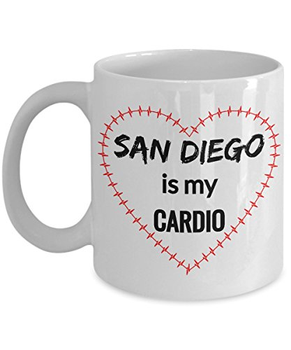 SAN DIEGO Coffee Mug - San Diego is My Cardio -