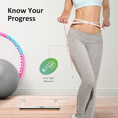 Letsfit Digital Body Weight Bathroom Scale with Step-On Technology, Large Backlit Display, Ultra Slim Design