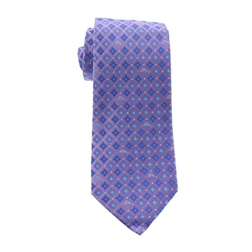 Tommy Bahama Men's Micro Marlin Floral Necktie, Purple, One Size