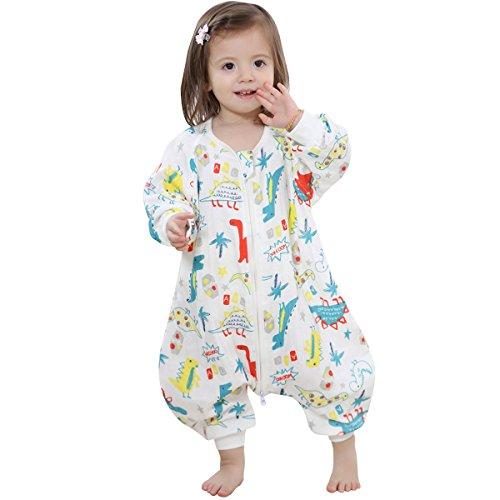 JAJADO Baby Long Sleeve Sleep Bag Cotton Sleepsack Safe Wearable Blanket with Feet for 0-5 Years