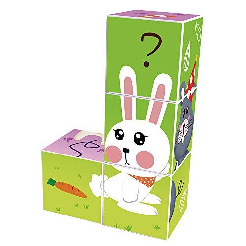 (Agirlgle Magnetic Blocks 3D Puzzles for Kids Baby Toddlers Blocks Learning Educational Toys Magic Cube Jigsaw Puzzle Games Building Blocks Kits Brain Teaser for Children Beginner Kids (4pcs pet))