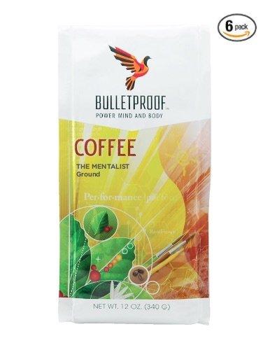 Bulletproof - The Mentalist Dark Roast Ground Coffee, Dark Cocoa and Vanilla Aromatics with Cherry Sweetness (12 ounces) 6-Pack