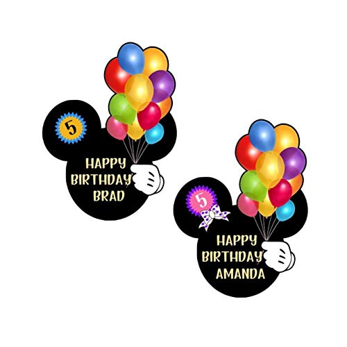 Happy Birthday Mickey Head || Disney Cruise Birthday Magnet For Stateroom Door || Disney Balloons Door Magnet || Disney Cruise Magnets