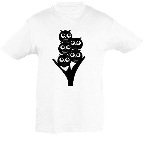 Gufo Cavallo Ragazze Unicorno Orso Bambini shirt Mouse Rana Eulenfreunde Per Disegni 152 E Taglia Gatto Animali Ragazzi 86 Bianco Pecorino Polare T q6P4wXq