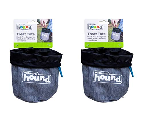 (Outward Hound 2 Pack of Treat Totes, Grey, for Dog Training)