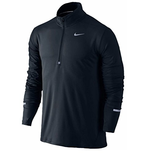 Nike Mens Dri-Fit Element Half-Zip Running Shirt Black 904946 010 (Nike Half Zip Pullover)