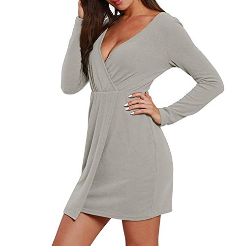 scollo Alian a lunghe maniche a V e stile scollo a maglia europeo autunno inverno americano V grigio combinazione rwnErCqY