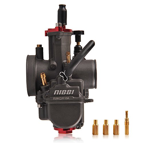 NIBBI RACING PARTS Replacement Orginal High Performance Speed Modified Carburetor PWK26MM Fit Motorcycle Scooter Atv Dirt bike 125CC-180CC Honda Yamaha Suzuki Kawasaki CG GY6 Engine