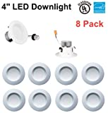 Bybon 4'' Dimmable Retrofit LED Downlight, 8W, UL and ENERGY STAR Classified (4000K, 8 Pack)