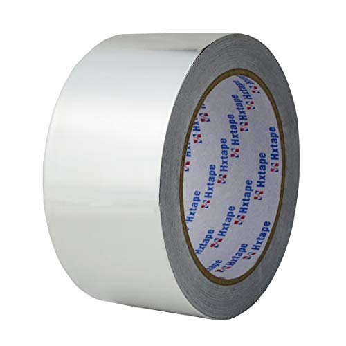 Hxtape 4 Mil (2 inch-66ft) Aluminum Foil Tape,Multi Size Choices, Silver,Good for HVAC, Sealing & Patching Hot & Cold Air Ducts, Metal Repair