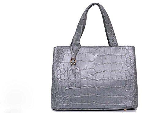 Bellina Wani Tote Shoulder Bag BB1218 (Grey) by Pristine&BB (Image #10)