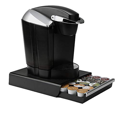 Mind Reader Coffee Pod Storage Drawer for K-Cups, Verismo, Dolce Gusto, Holds 30 K-Cups, 35 CBTL, Verismo, Dolce Gusto, Black (Coffee Tray Container)