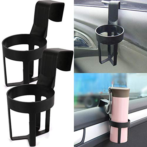 Creazy 2 Pcs Universal in Car Drinks Cup Bottle Can Holder Door Mount Cup Holder Stand