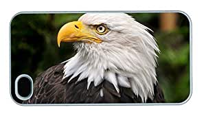 Hipster designer iPhone 4S case Bald Eagle PC White for Apple iPhone 4/4S